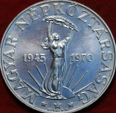 Uncirculated 1970 Hungary 50 Forint Silver Foreign Coin