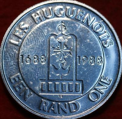 Uncirculated 1988 South Africa 1 Rand Silver Foreign Coin