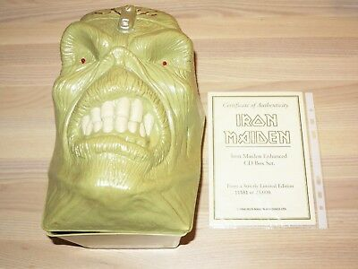 IRON MAIDEN 16 CD BOX - EDDIE'S HEAD / 1998 NUMBERED LIMITED PRESS in MINT
