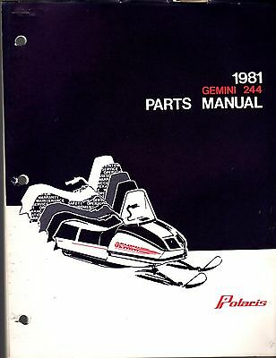 VINTAGE 1972 POLARIS Snowmobile Parts Book Manual P/N 9910132
