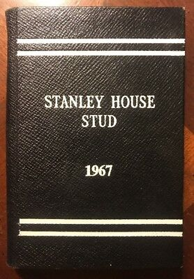 Rare Stanley House Stud 1967 Leather Book Index