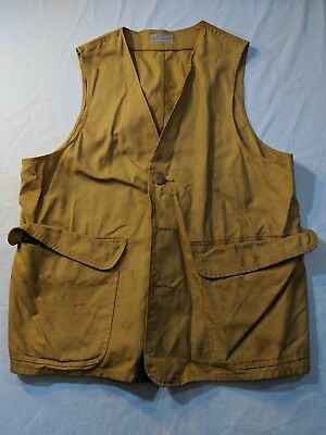 Vintage Sears Roebuck Vest Active Sportswear Large w/ Pockets Hunting Shooting
