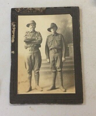 WW1 Australia Soldier Pair Photograph Anzacs AIF, Young & Old, Father & Son?