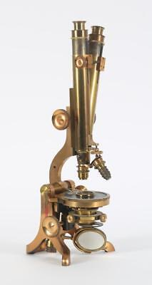 Antique Henry Crouch Brass Microscope - London