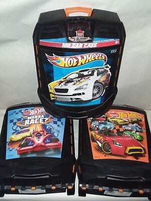 Hot Wheels 100 Car Storage Rolling Carrying Case Organizer Lot Of 3 Different