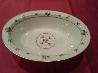 Noritake China Normandy Pattern 10 Inch Oval Serving Bowl