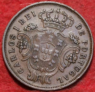 1901 Portugal Azores 5 Reis Foreign Coin