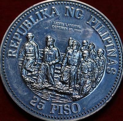 Uncirculated 1980 Philippines 25 Piso Silver Foreign Coin