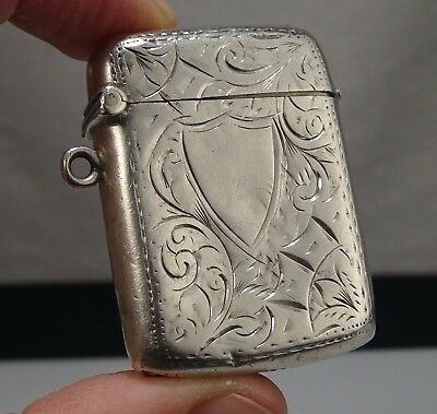 Antique 1912 Sterling Silver Vesta Match Safe  -   54680