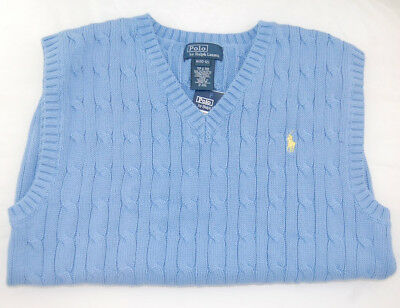 POLO RALPH LAUREN Boys Size 5 Vest Kids Sweater NEW