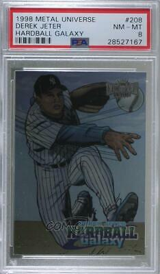 1998 Metal Universe #208 Derek Jeter PSA 8 NM-MT New York Yankees Baseball Card