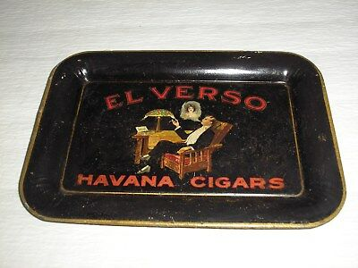 "Vintage El Verso Cigar Metal Tip Tray, 2 Of 2 Similar, 6 1/2"" X 4 1/2"""