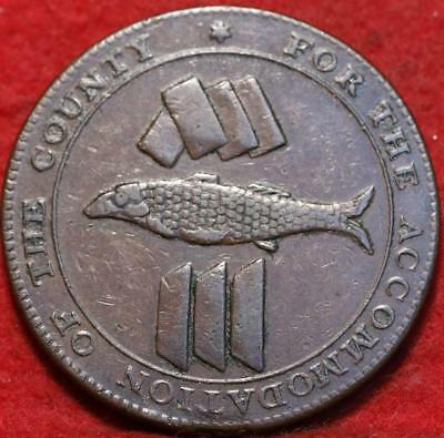 1811 British 19th Century 1 Penny Token Foreign Coin