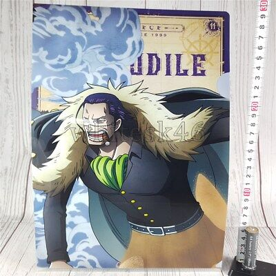 One Piece Crocodile Ichiban-Kuji Art Clear File Anime Manga /6018