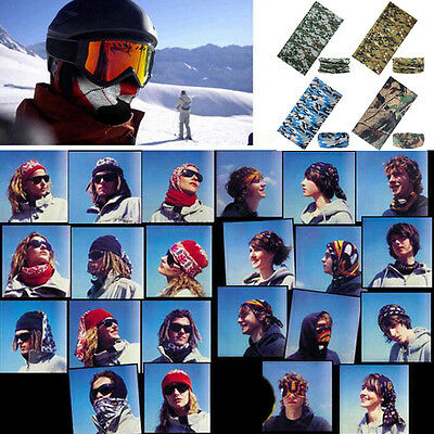 2019 Multi-Function Camo Tube Scarf Headband Face Mask Winter Bandana Headwear