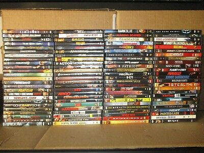 Wholesale Lot Of 100 Assorted *Action & Adventure & Fantasy* DVDs & DVDs Movies