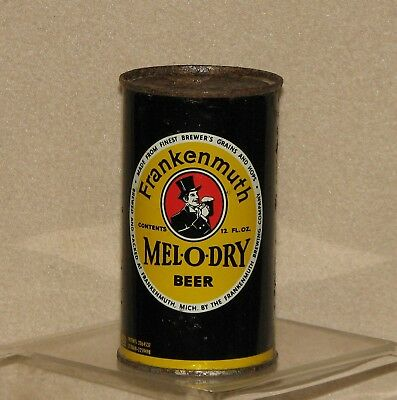 Frankenmuth Mel-O-Dry Keglined Flat Top Beer Can Top Opened Frankenmuth Brwg, Mi