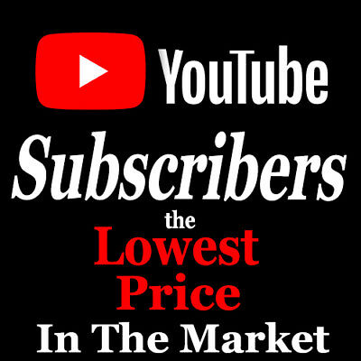 Youtube Subscribêrs  | Cheap  | High Quality  | Real Active