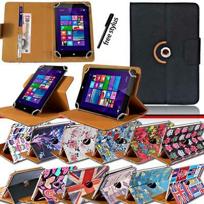 "Folio Rotating Stand Wallet Leather Cover Case For Various 7"" 8"" 10"" HP Tablet"