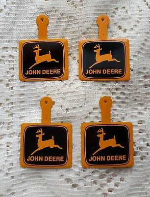 4 Vintage John Deere metal fold over/down pins - extremely rare! Excellent!