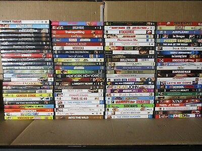 Wholesale Lot Of 100 Assorted **Drama & Comedy & Romance** DVDs & DVDs Movies