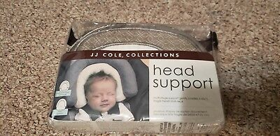 JJ Cole Collections Head Support from preemie to infant Beige/White