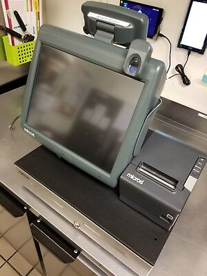 "Micros Pos 15"" Terminal Res, 3700, 9700,  Cash Drawer With Receipt Printer"