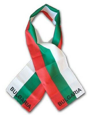 "Bulgaria Country Lightweight Flag Printed Knitted Style Scarf 8""x60"""