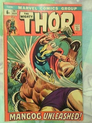 Thor issue 197 pence priced cover VG+  1972