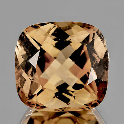 9.00 mm CUSHION NATURAL CHAMPAGNE IMPERIAL TOPAZ [IF-VVS]