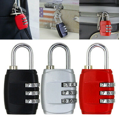 3 Digit Dial Metal Code Lock Mini Password Lock Suitcase Anti-Theft Padlock