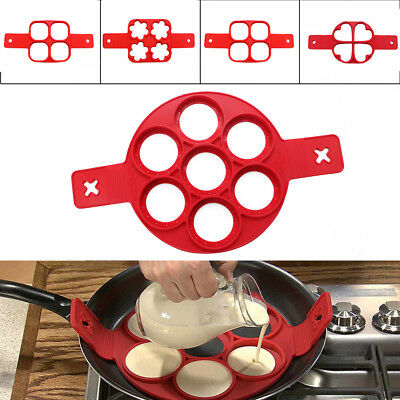 Nonstick Pancake Maker Mould Silicone Omelette Egg Ring Mold Tool Home Kitchen