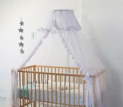 Br New Sweet Dreams Cot Halo Stand and Net Baby Toddler Bed Cradle Crib White