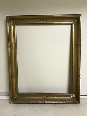 Monumental Antique 19th Century Gold 46x36 Large American Empire Picture Frame K