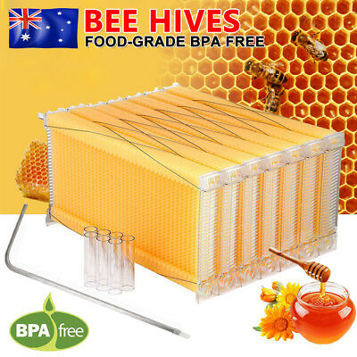 7PCS Upgraded Auto Flow Honey Harvesting Beehive Bee Comb Hive Frames Beekeeping