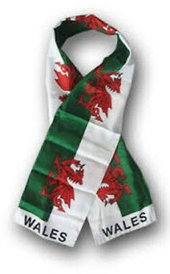 "Wales Welsh Country Lightweight Flag Printed Knitted Style Scarf 8""x60"""