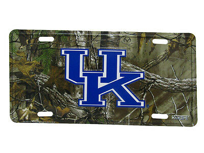 """UK Kentucky Wildcats Camo Camouflage 6""""x12"""" Aluminum License Plate Tag"""
