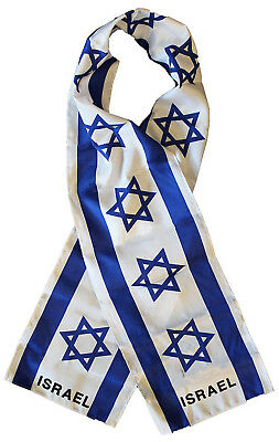 "Israel Israeli Country Lightweight Flag Printed Knitted Style Scarf 8""x60"""