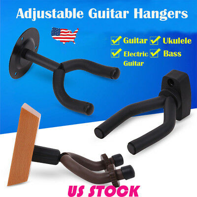 USA Electric Guitar Hanger Stand Holder Wall Mount Rack Hooks Ukulele Bass Banjo