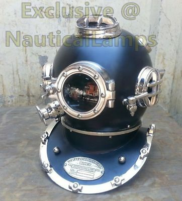 Vintage Antique U.S Navy Scuba Mark V Diving Diver Helmet Deep Sea Full Size 18""