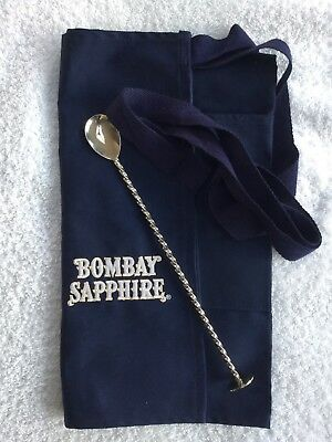 Bombay Saphire Bartenders Apron And Stirrer