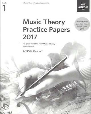 Music Theory Practice Papers 2017 Grade 1 ABRSM 9781786010766