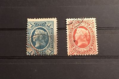 Guatemala Early Stamps Y/t N: 9-10 Used