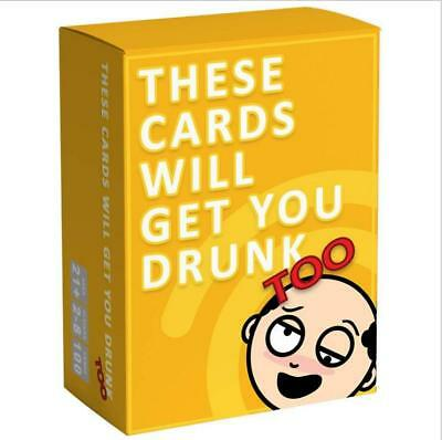 New Edition These Cards Will Get You Drunk - Fun Adult Drinking Game For Partie