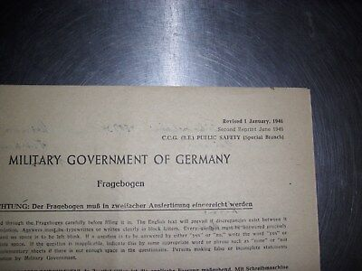 Military Goverment of Germany 1. Januar 1946