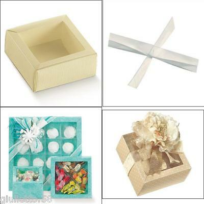 BOX Cm.12x12x3,2H for FAVORS CONFETTI HOLDER with PARTITIONS 4 PLACES 14148