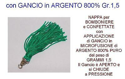 NAPPA-TASSEL FAVORS GREEN HOOK silver 800%