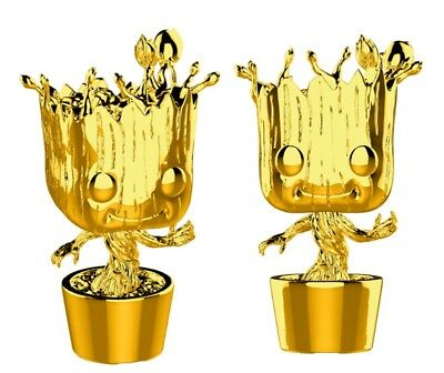 GUARDIANS OF THE GALAXY Figurine GROOT GOLD CHROME EXCLUSIVE N° 378 FUNKO POP
