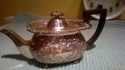 George 3rd Silver plate Martin Hall & Co teapot