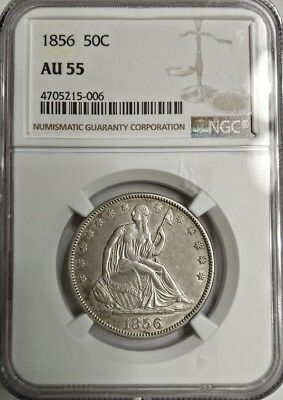 1856 Seated Liberty Half Dollar - NGC AU55 - PRICED RIGHT